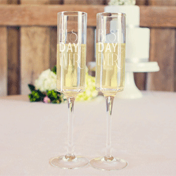 Best Day Ever Champagne Flutes